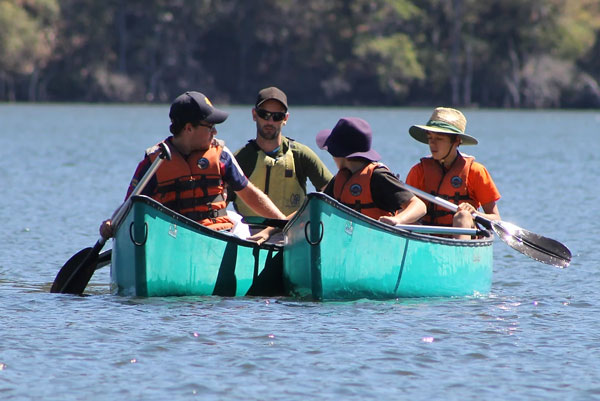 Canoeing at Camp Kokoda